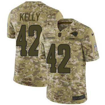 Nike Rams #42 John Kelly Camo Men's Stitched NFL Limited 2018 Salute To Service Jersey