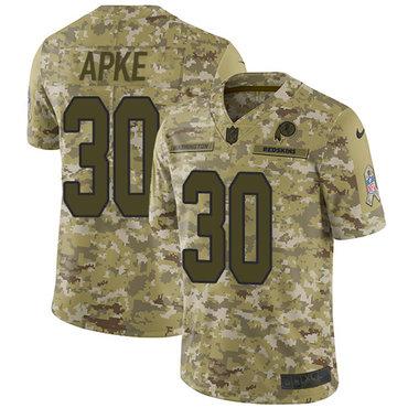 Nike Redskins #30 Troy Apke Camo Men's Stitched NFL Limited 2018 Salute To Service Jersey