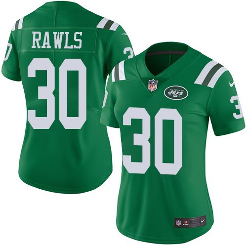 Nike Jets 30 Thomas Rawls Green Women Color Rush Limited Jersey