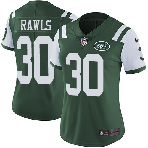Nike Jets 30 Thomas Rawls Green Women Vapor Untouchable Limited Jersey