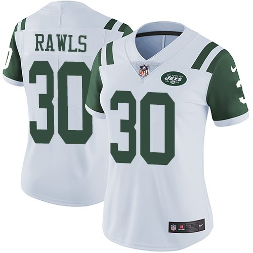 Nike Jets 30 Thomas Rawls White Women Vapor Untouchable Limited Jersey