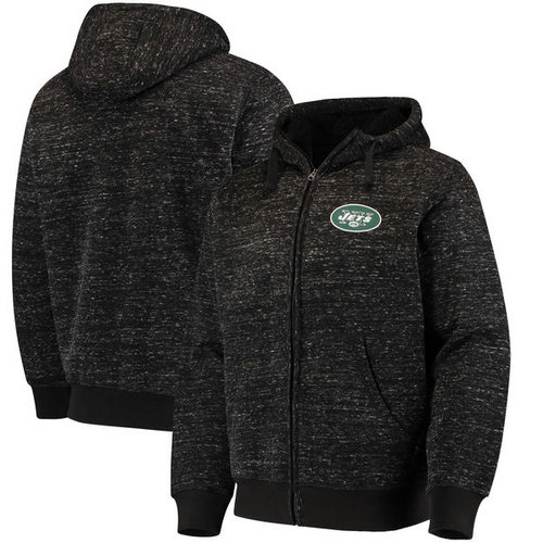 New York Jets G-III Sports by Carl Banks Discovery Sherpa Full-Zip Jacket - Heathered Black