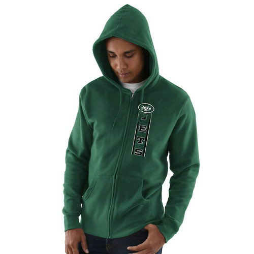 New York Jets Hook and Ladder Full-Zip Hoodie - Green