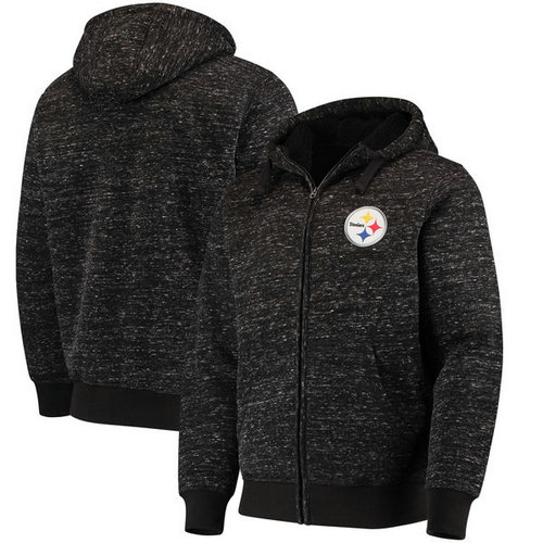 Pittsburgh Steelers G-III Sports by Carl Banks Discovery Sherpa Full-Zip Jacket - Heathered Black