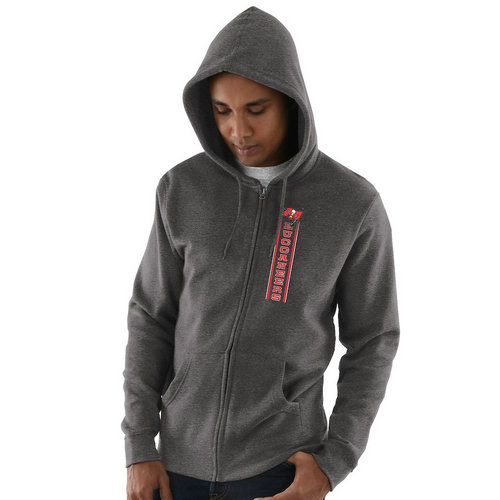 Tampa Bay Buccaneers Hook and Ladder Full-Zip Hoodie - Heathered Charcoal
