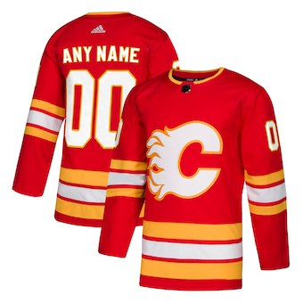 Kids Calgary Flames adidas Red Alternate Authentic Custom Jersey