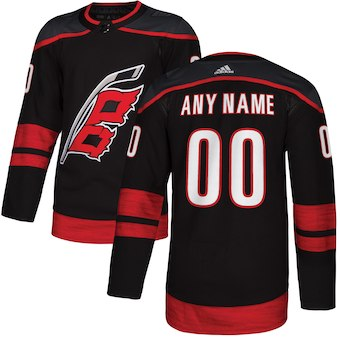 Men's Carolina Hurricanes adidas Black Alternate Authentic Custom Jersey