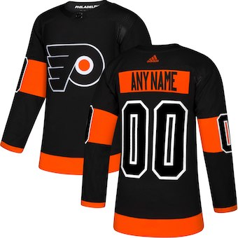 Men's Philadelphia Flyers adidas Black Alternate Authentic Custom Jersey