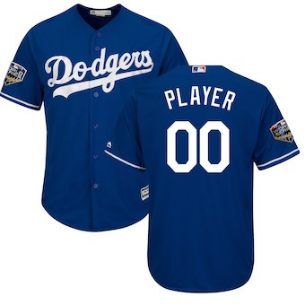 Men's Los Angeles Dodgers Majestic Royal 2018 World Series Cool Base Custom Jersey