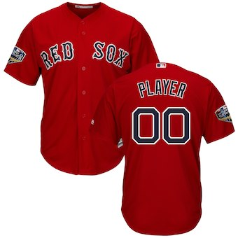 Men's Boston Red Sox Majestic Scarlet 2018 World Series Cool Base Custom Jersey