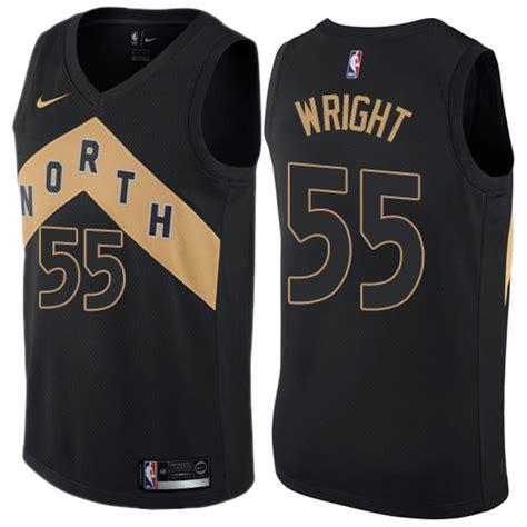 Nike Toronto Raptors #55 Delon Wright Black NBA Swingman City Edition Jersey