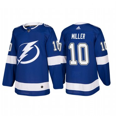 Adidas Tampa Bay Lightning #10 J.T. Miller Authentic Player Blue Home Jersey