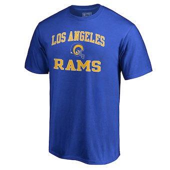 Men's Los Angeles Rams NFL Pro Line by Fanatics Branded Blue Vintage Collection Victory Arch Big & Tall T-Shirt