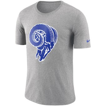 Men's Los Angeles Rams Nike Heathered Gray Historic Tri-Blend Crackle T-Shirt
