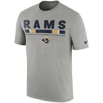 Men's Los Angeles Rams Nike Charcoal Sideline Legend Staff Performance T-Shirt