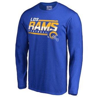 Men's Los Angeles Rams NFL Pro Line by Fanatics Branded Royal Hometown Collection Hot Read Long Sleeve T-Shirt