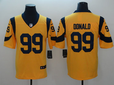 Men's Nike Los Angeles Rams #99 Aaron Donald Gold Vapor Untouchable Limited Jersey