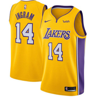 Nike Lakers #14 Brandon Ingram Gold NBA Swingman Icon Edition Jersey