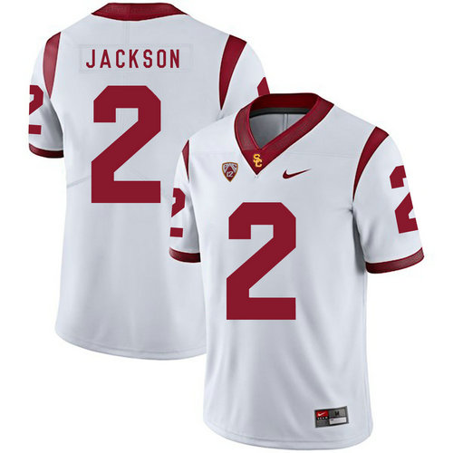 USC Trojans 2 Adoree' Jackson White College Football Jersey