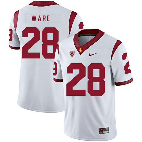 USC Trojans 28 Aca'Cedric Ware White College Football Jersey