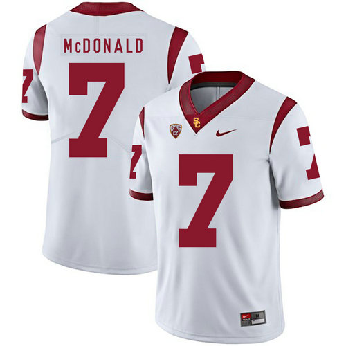 USC Trojans 7 T.J. McDonald II White College Football Jersey