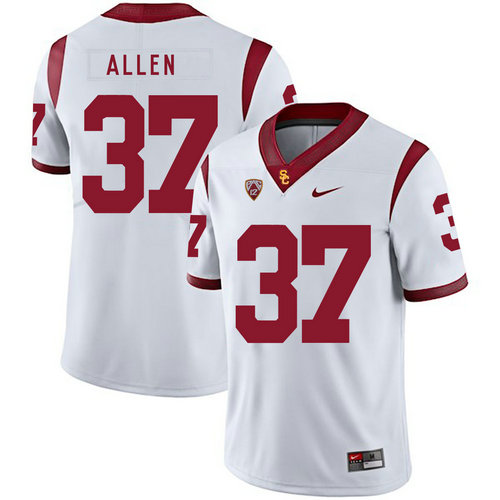 USC Trojans 37 Javorius Allen White College Football Jersey
