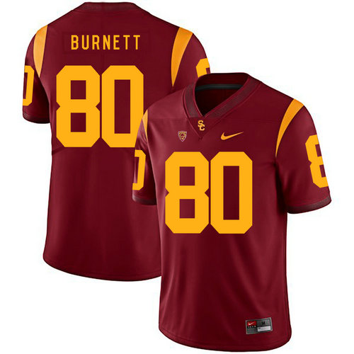 USC Trojans 80 Deontay Burnett Red College Football Jersey