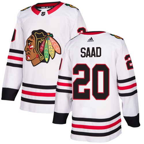 Adidas Chicago Blackhawks #20 Brandon Saad White Road Authentic Stitched NHL Jersey