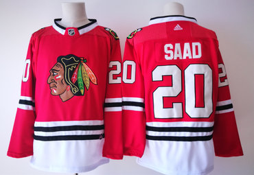 Adidas Chicago Blackhawks #20 Brandon Saad Red Home Authentic Stitched NHL Jersey