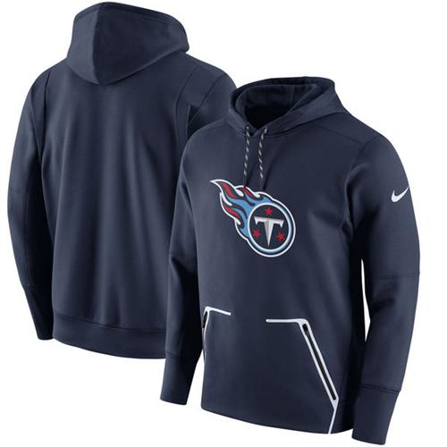 Men's Tennessee Titans Nike Navy Champ Drive Vapor Speed Pullover Hoodie