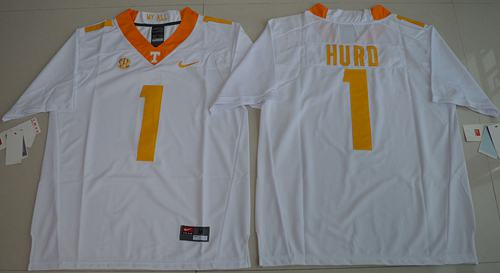 Tennessee Vols #1 Jalen Hurd White Limited Stitched NCAA Jersey
