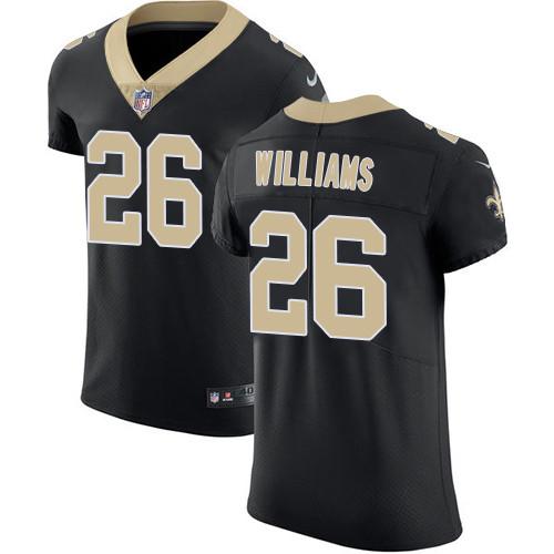 Nike New Orleans Saints #26 P.J. Williams Black Team Color Men's Stitched NFL Vapor Untouchable Elite Jersey