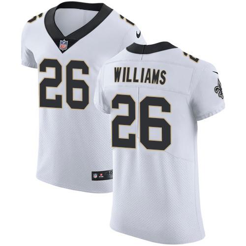 Nike New Orleans Saints #26 P.J. Williams White Men's Stitched NFL Vapor Untouchable Elite Jersey