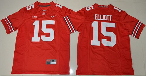 Buckeyes #15 Ezekiel Elliott Red Stitched Youth NCAA Jersey
