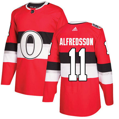 Kid Adidas Senators 11 Daniel Alfredsson Red Authentic 2017 100 Classic Stitched NHL Jersey
