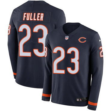 Nike Bears #23 Kyle Fuller Navy Blue Team Color Men's Stitched NFL Limited Therma Long Sleeve Jersey