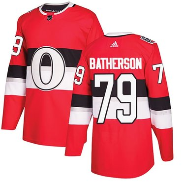 Men's Ottawa Senators #79 Drake Batherson Adidas 100 Classic Authentic Red Jersey