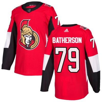 Men's Ottawa Senators #79 Drake Batherson  Adidas Home Authentic Red Jersey