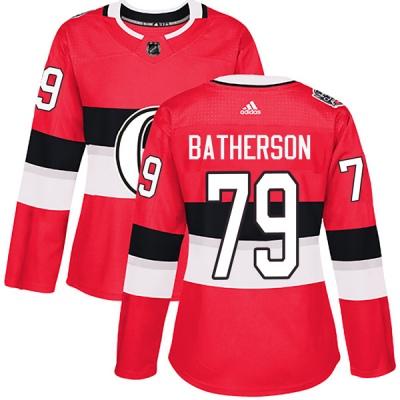 Women's Ottawa Senators #79 Drake Batherson Adidas 100 Classic Authentic Red Jersey