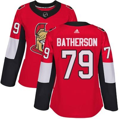 Women's Ottawa Senators #79 Drake Batherson Adidas Home Authentic Red Jersey