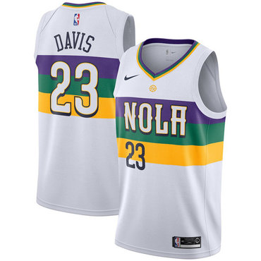 Nike NBA New Orleans Pelicans #23 Anthony Davis Jersey 2018-19 New Season City Edition Jersey