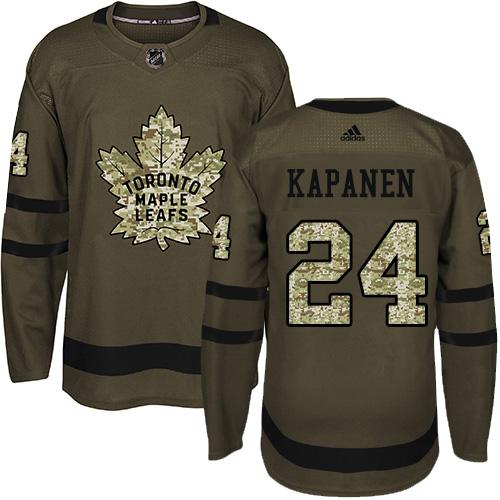 Adidas Toronto Maple Leafs #24 Kasperi Kapanen Green Salute to Service NHL Men's Jersey