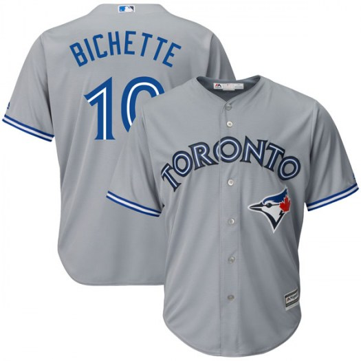 Men's Toronto Blue Jays #10 Bo Bichette Gray Cool Base Jersey