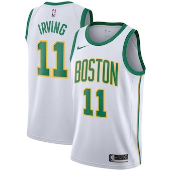 Men's Boston Celtics #11 Kyrie Irving Nike White 2018-19 Swingman Jersey - City Edition
