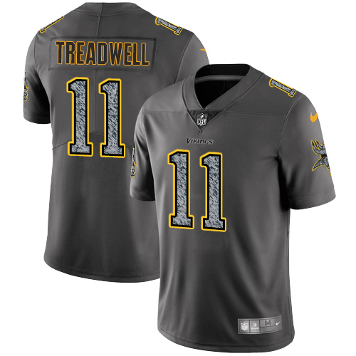 Nike Vikings #11 Laquon Treadwell Gray Static Men's Stitched NFL Vapor Untouchable Limited Jersey