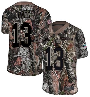 Nike Lions #13 T.J. Jones Camo Men's Stitched NFL Limited Rush Realtree Jersey