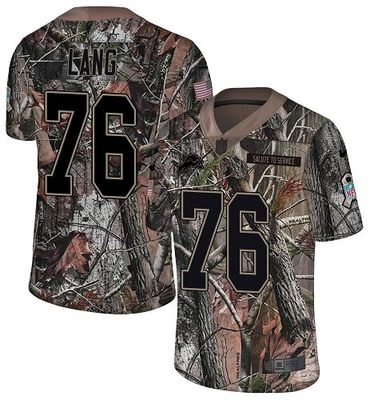 Nike Lions #76 T.J. Lang Camo Men's Stitched NFL Limited Rush Realtree Jersey