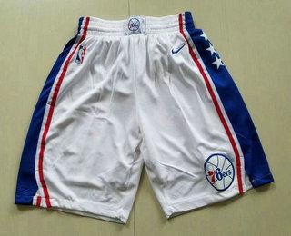 Nike Philadelphia 76ers White Swingman Shorts