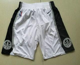 Nike San Antonio Spurs White Swingman Shorts