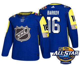 Men's Florida Panthers #16 Aleksander Barkov Blue 2018 NHL All-Star Stitched Ice Hockey Jersey